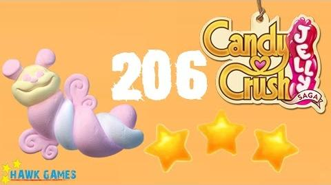 Candy Crush Jelly - 3 Stars Walkthrough Level 206 (Puffler mode)