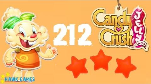 Candy Crush Jelly - 3 Stars Walkthrough Level 212 (Jelly mode)