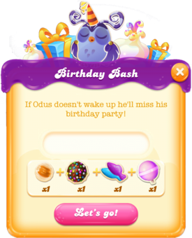 Birthday Bash message