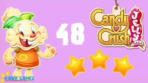 Candy Crush Jelly - 3 Stars Walkthrough Level 48 (Jelly mode)