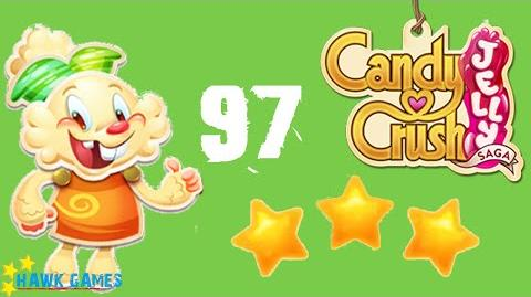 Candy Crush Jelly - 3 Stars Walkthrough Level 97 (Jelly mode)