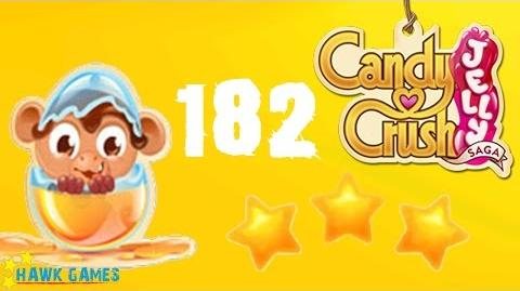 Candy Crush Jelly - 3 Stars Walkthrough Level 182 (Monkling mode)