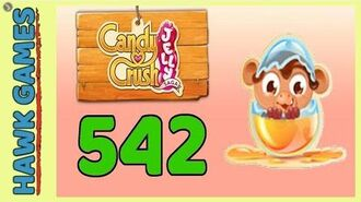 Candy Crush Jelly Saga Level 542 (Monkling mode) - 3 Stars Walkthrough, No Boosters