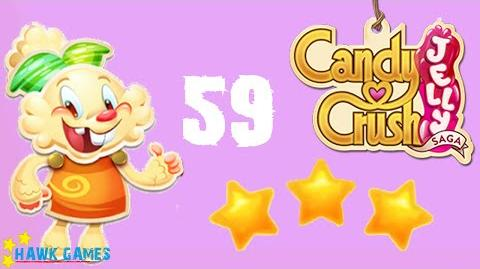 Candy Crush Jelly - 3 Stars Walkthrough Level 59 (Jelly mode)
