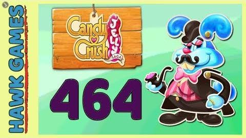 Candy Crush Jelly Saga Level 464 (Monkling Boss mode) - 3 Stars Walkthrough, No Boosters