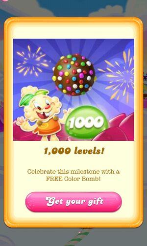 1000 levels celebration