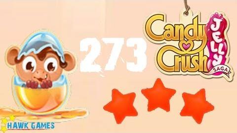 Candy Crush Jelly - 3 Stars Walkthrough Level 273 (Monkling mode)