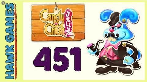 Candy Crush Jelly Saga Level 451 (Monkling Boss mode) - 3 Stars Walkthrough, No Boosters