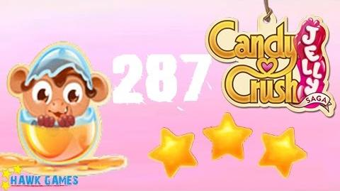 Candy Crush Jelly - 3 Stars Walkthrough Level 287 (Monkling mode)