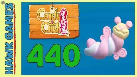Candy Crush Jelly Saga Level 440 (Puffler mode) - 3 Stars Walkthrough, No Boosters