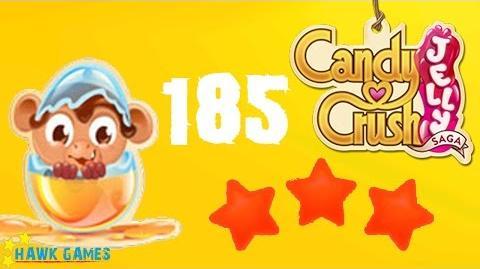 Candy Crush Jelly - 3 Stars Walkthrough Level 185 (Monkling mode)