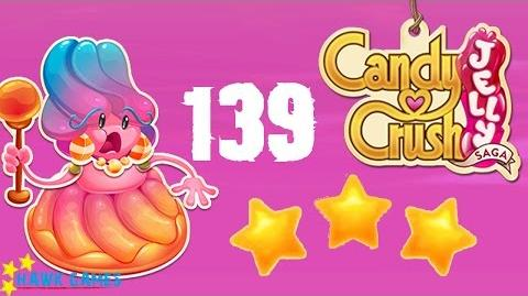 Candy Crush Jelly - 3 Stars Walkthrough Level 139 (Jelly Boss mode)