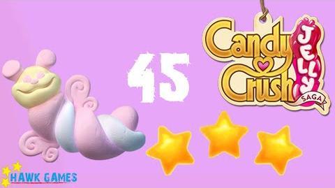 Candy Crush Jelly - 3 Stars Walkthrough Level 45 (Puffler mode)