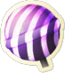 Striped Lollipop Hammer Icon