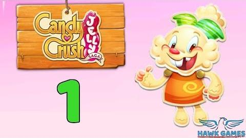 Candy Crush Jelly - 3 Stars Walkthrough Level 1 (Jelly mode)-0