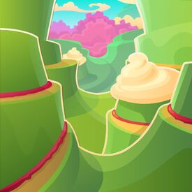Creamy Canyon background