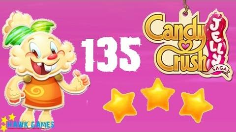 Candy Crush Jelly - 3 Stars Walkthrough Level 135 (Jelly mode)