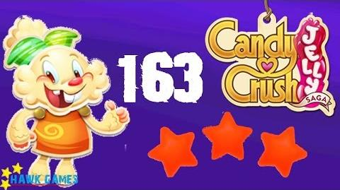 Candy Crush Jelly - 3 Stars Walkthrough Level 163 (Jelly mode)