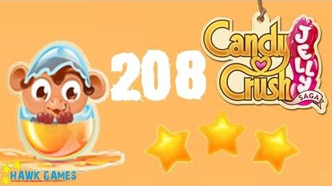 Candy Crush Jelly - 3 Stars Walkthrough Level 208 (Monkling mode)