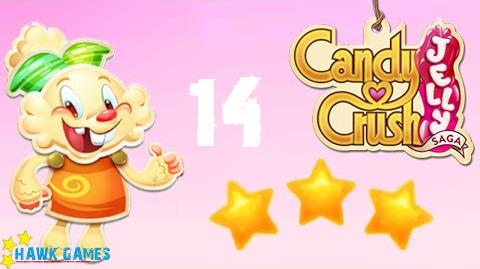 Candy Crush Jelly - 3 Stars Walkthrough Level 14 (Jelly mode)