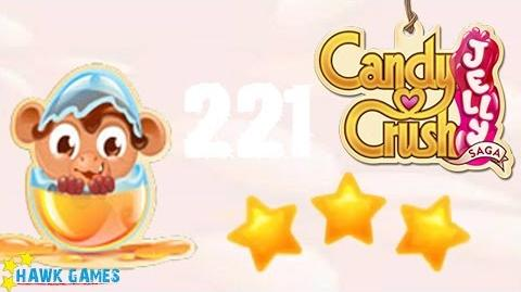 Candy Crush Jelly - 3 Stars Walkthrough Level 221 (Monkling mode)