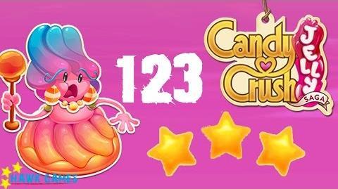 Candy Crush Jelly - 3 Stars Walkthrough Level 123 (Jelly Boss mode)