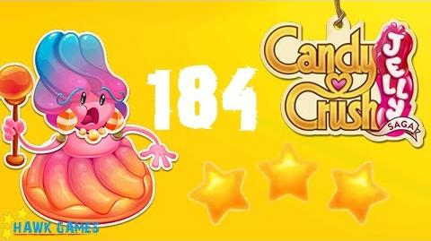 Candy Crush Jelly - 3 Stars Walkthrough Level 184 (Jelly Boss mode)
