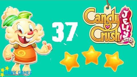 Candy Crush Jelly - 3 Stars Walkthrough Level 37 (Jelly mode)
