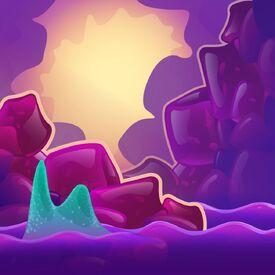 Gelatine Grotto background