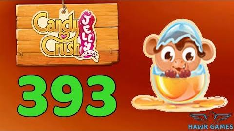 Candy Crush Jelly 🍰 Saga Level 393 (Monkling mode) - 3 Stars Walkthrough, No Boosters