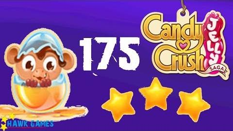 Candy Crush Jelly - 3 Stars Walkthrough Level 175 (Monkling mode)