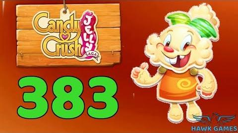 Candy Crush Jelly Saga Level 383 (Jelly mode) - 3 Stars Walkthrough, No Boosters
