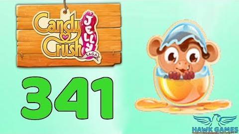Candy Crush Jelly Saga Level 341 (Monkling mode) - 3 Stars Walkthrough, No Boosters
