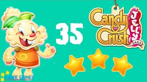 Candy Crush Jelly - 3 Stars Walkthrough Level 35 (Jelly mode)