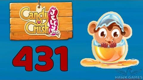 Candy Crush Jelly 🍰 Saga Level 431 Hard (Monkling mode) - 3 Stars Walkthrough, No Boosters