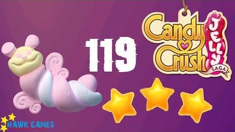 Candy Crush Jelly - 3 Stars Walkthrough Level 119 (Puffler mode)