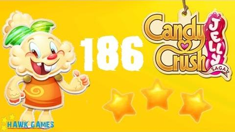 Candy Crush Jelly - 3 Stars Walkthrough Level 186 (Jelly mode)