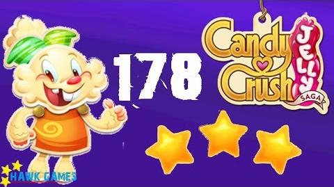Candy Crush Jelly - 3 Stars Walkthrough Level 178 (Jelly mode)