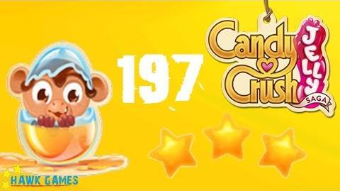 Candy Crush Jelly - 3 Stars Walkthrough Level 197 (Monkling mode)