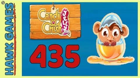 🌳 Candy Crush Jelly Saga Level 435 Hard (Monkling mode) - 3 Stars Walkthrough, No Boosters