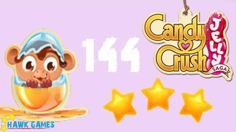 Candy Crush Jelly - 3 Stars Walkthrough Level 144 (Monkling mode)