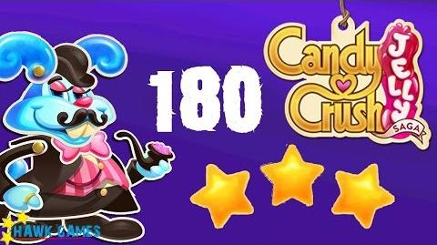 Candy Crush Jelly - 3 Stars Walkthrough Level 180 (Monkling Boss mode)