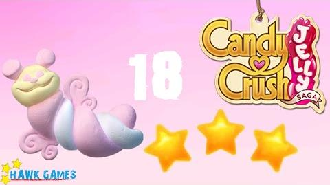 Candy Crush Jelly - 3 Stars Walkthrough Level 18 (Puffler mode)