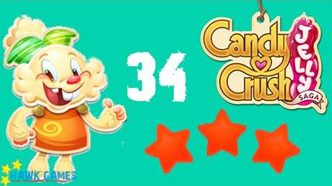 Candy Crush Jelly - 3 Stars Walkthrough Level 34 (Jelly mode)