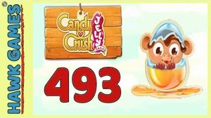 Candy Crush Jelly Saga Level 493 Hard (Monkling mode) - 3 Stars Walkthrough, No Boosters