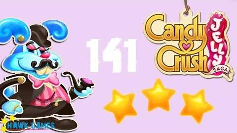 Candy Crush Jelly - 3 Stars Walkthrough Level 141 (Monkling Boss mode)