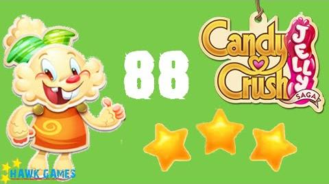 Candy Crush Jelly - 3 Stars Walkthrough Level 88 (Jelly mode)