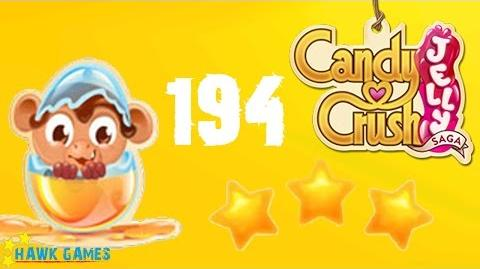 Candy Crush Jelly - 3 Stars Walkthrough Level 194 (Monkling mode)