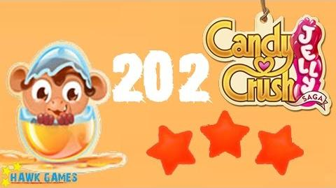 Candy Crush Jelly - 3 Stars Walkthrough Level 202 (Monkling mode)