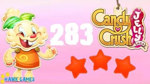 Candy Crush Jelly - 3 Stars Walkthrough Level 283 (Jelly mode)